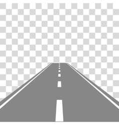 Straight Road on transparent vector image