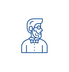 stylist line icon concept stylist flat vector image