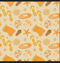 Summer beach seamless pattern vector