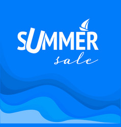 summer sale discount banner template design vector image