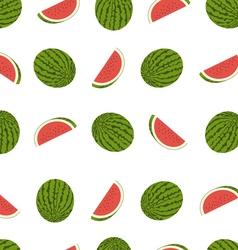 tasty watermelon seamless pattern vector image