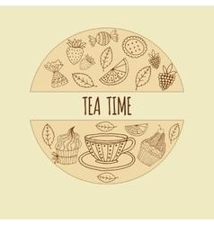 tea time vector image