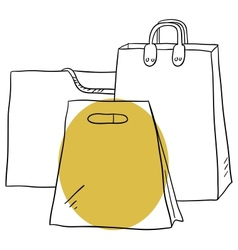 The bags vector image