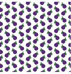 violet-blue funny cartoon fruit plum seamless vector image