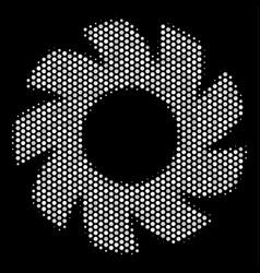 White dot turbine icon vector