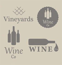 Wine Beverage Logos vector image