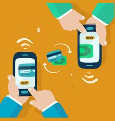 wireless money transfer vector image