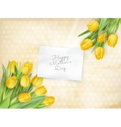 Card with tulips eps 10 vector