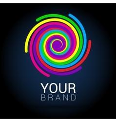 Creative abstract logo design template vector image
