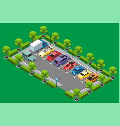 isometric parking zone concept vector image vector image