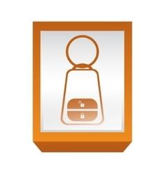 Rectangle button key alarm system car vector