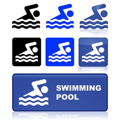 Swimming sign vector image vector image