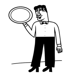 waiter vector image vector image