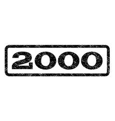 2000 watermark stamp vector image vector image