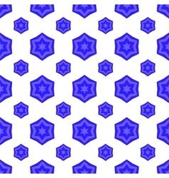 Blue David Star Seamless Jewish Symbol of Religion vector image