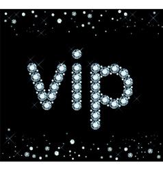 Diamond Vip Sign vector image