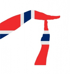 Norwegian timeout vector image vector image
