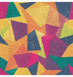 seamless grunge colorful triangles pattern vector image vector image