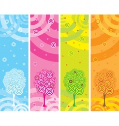 set of four seasons banners vector image