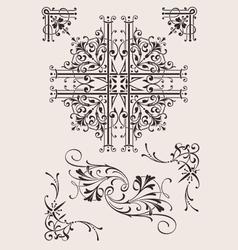 Set Of Ornate Design Elements vector image