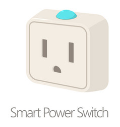Smart power switch icon cartoon style vector