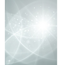 White smooth twist light lines background vector image vector image