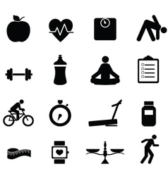 healhy icons vector image vector image