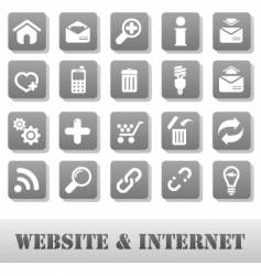 internet and website grey vector image vector image