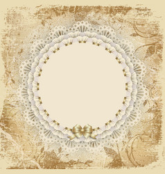 napkin the old card vector image