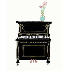 Piano card hand drawn vector image vector image