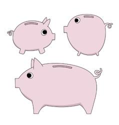 piggy moneybox vector image vector image