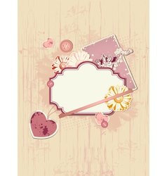 scrapbooking kit for valentines day vector image vector image