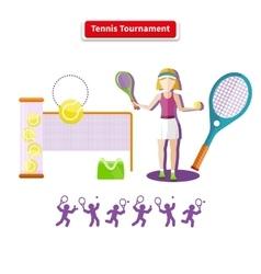 Tennis Tournament Concept vector image vector image