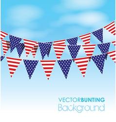 usa bunting vector image