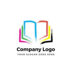 color book logo vector image vector image