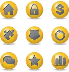 Golden buttons vector image vector image