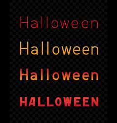 halloween text dark transparent background vector image vector image