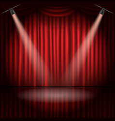 stage curtains with spot light vector image