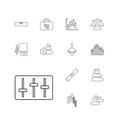 13 balance icons vector