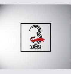 3 years anniversary logotype flat style vector
