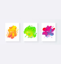 abstract cover set of liquid shapes vector image