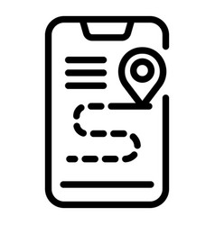 Accessible phone route icon outline style vector