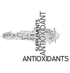 Antioxidant red grapes text word cloud concept vector