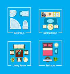 apartment plan interior design vector image