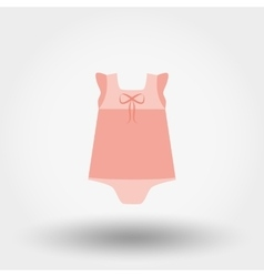 Baby Dress Rompers Icon vector image