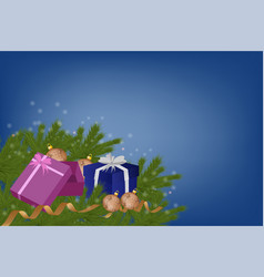 banner with surprise gift box of pink color with vector image