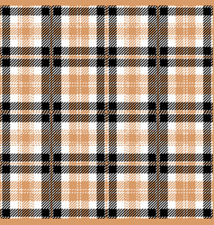 Black and tan tartan plaid seamless pattern vector