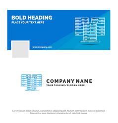 Blue business logo template for center centre vector
