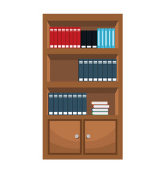 bookshelf furniture office image vector image