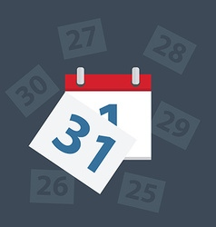 calendar apps icon last day month vector image